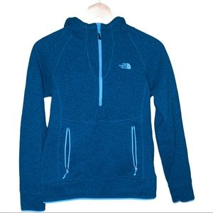 The North Face Teal 3/4 Zip Pullover Size Medium
